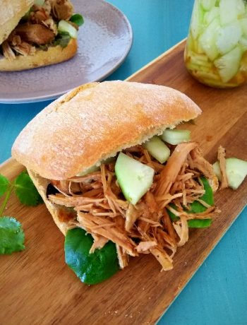 asian pulled pork sliders