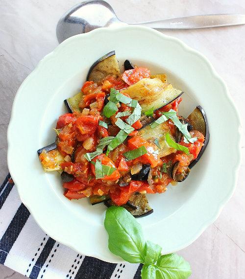 italian salad aubergine