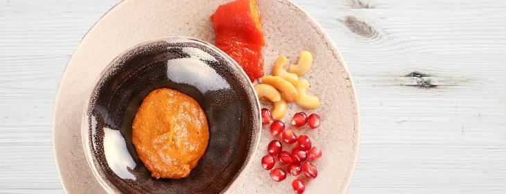 red pepper cashew mezze dip